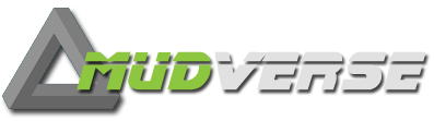 Logo for MudVerse - specializing in listing text based games such as MUDs, MOOs, MUCKs, MUSHs and Ticks.  Mud Directory.